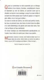 Calvino-Calvina - 4ème de couverture - Format classique