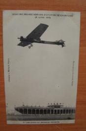 CPA : DEUXIEME GRANDE SEMAINE D'AVIATION DE CHAMPAGNE (3 juillet 1910) Labouchère sur monoplan Antoinette - Couverture - Format classique