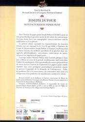 Joseph Dufour ; manufacturier de papier peint - 4ème de couverture - Format classique