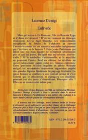 Enlivrée - 4ème de couverture - Format classique