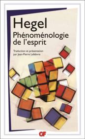 Phénoménologie de l'esprit - Couverture - Format classique