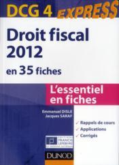 telecharger DCG 4 – droit fiscal en 35 fiches (4e edition) livre PDF en ligne gratuit