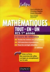 Mathématiques ; ECS 1ère année ; tout-en-un (2e édition) - Couverture - Format classique