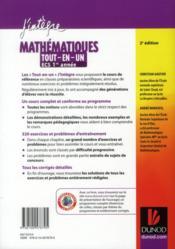 Mathématiques ; ECS 1ère année ; tout-en-un (2e édition) - 4ème de couverture - Format classique