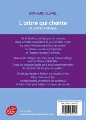 L'arbre qui chante et autres histoires - 4ème de couverture - Format classique