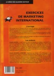 Exercices de marketing international ; livre de l'élève - 4ème de couverture - Format classique