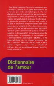 Dictionnaire de l'amour pour les surdoués - 4ème de couverture - Format classique