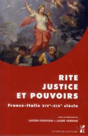 Rite Justice Et Pouvoirs - Couverture - Format classique