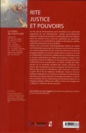 Rite Justice Et Pouvoirs - 4ème de couverture - Format classique