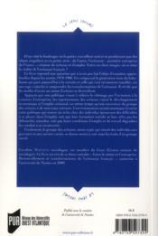 L'artisanat francais ; entre métier et entreprise - 4ème de couverture - Format classique