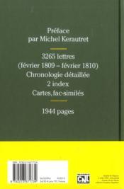 Correspondance générale t.9 ; Wagram, février 1809-février 1810 - 4ème de couverture - Format classique