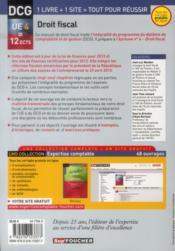 DCG 4 ; droit fiscal ; manuel et applications (édition 2013-2014) - 4ème de couverture - Format classique