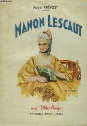 Manon Lescaut - Couverture - Format classique