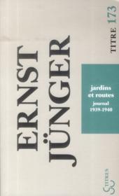 Jardins et routes (journal 1939-1940) - Couverture - Format classique
