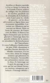 Jardins et routes (journal 1939-1940) - 4ème de couverture - Format classique