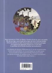 Finnele T.1 ; le front d'Alsace - 4ème de couverture - Format classique