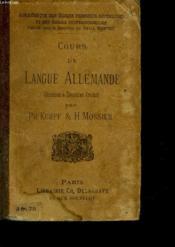 Cours De Langue Allemande - 2° Et 3° Annee - Couverture - Format classique