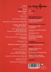 Revue le coq héron N.219 ; s'écrire - 4ème de couverture - Format classique