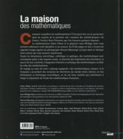 La maison des mathématiques - 4ème de couverture - Format classique