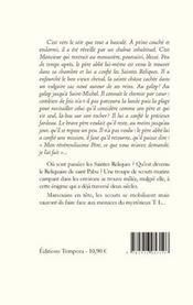 Le reliquaire de saint Pabu - 4ème de couverture - Format classique
