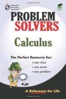 Calculus Problem Solver (rea) - Couverture - Format classique