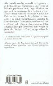 La chamane blanche - 4ème de couverture - Format classique