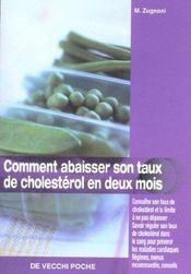 Comment Abaisser Son Taux De Cholesterol - Intérieur - Format classique