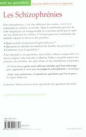 Les schizophrenies (édition 2004) - 4ème de couverture - Format classique