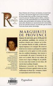 Marguerite de Provence ; épouse de Saint-Louis, mère de Philippe III - 4ème de couverture - Format classique