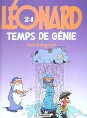 Léonard t.24 ; temps de génie - Intérieur - Format classique
