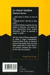 Cheval Fantome - 4ème de couverture - Format classique