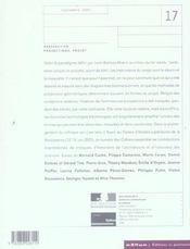 Les Cahiers De La Recherche Architecturale Et Urbaine N.17 ; Perspective, Projections, Projet ; Technologies De La Représentation Architecturale - 4ème de couverture - Format classique