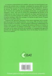 Les territoires de la mobilite l'aire dutemps - 4ème de couverture - Format classique