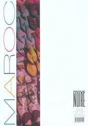 Revue noire t.33-34 ; le maroc - 4ème de couverture - Format classique