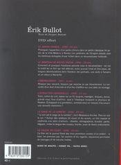 Erik Bullot (+ Dvd) - 4ème de couverture - Format classique