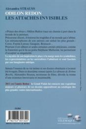 Odilon Redon ; les attaches invisibles - 4ème de couverture - Format classique