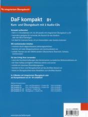 DAF Kompakt ; allemand ; b1 ; livre de l'élève + 2 cd - 4ème de couverture - Format classique