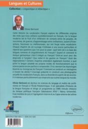 Histoire du vocabulaire français ; origines, emprunts & création lexicale - 4ème de couverture - Format classique