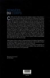 Pensees du corps. la materialite et l'organique vus par les sciences sociales - 4ème de couverture - Format classique