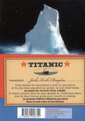 Titanic, l'instinct de vie - 4ème de couverture - Format classique