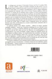 Mediatisation de la vie privee xvie xxe siecle - 4ème de couverture - Format classique