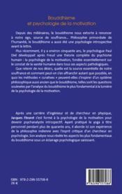 Bouddhisme et psychologie de la motivation - 4ème de couverture - Format classique