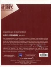 Lucien Jerphagnon et Raphaël Enthoven ; entretiens - 4ème de couverture - Format classique