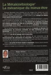La métakinébiologie ; la mécanique du mieux-être - 4ème de couverture - Format classique