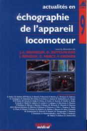 Actualités en échographie de l'appareil locomoteur T.9 - Couverture - Format classique