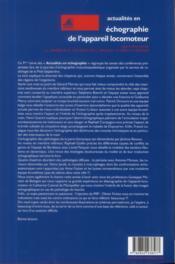 Actualités en échographie de l'appareil locomoteur T.9 - 4ème de couverture - Format classique