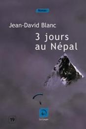 3 jours au Népal - Couverture - Format classique