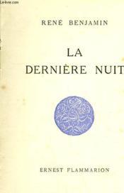 La Derniere Nuit. - Couverture - Format classique