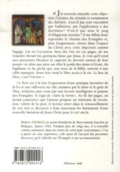 Foi et delivrance. figures du christ therapeute - 4ème de couverture - Format classique
