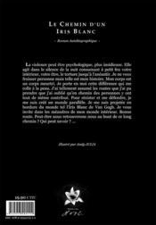 Le chemin d'un iris blanc - 4ème de couverture - Format classique
